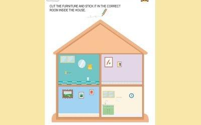 HOUSE ROOMS & FURNITURE: CUT & STICK